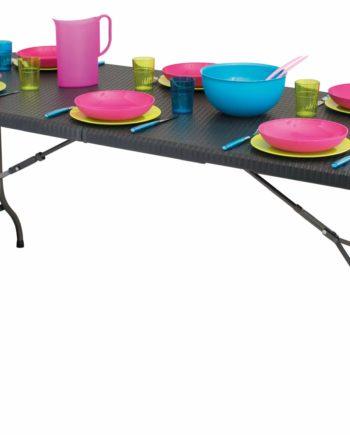 eurotrail pavilion party tafel rotan-look