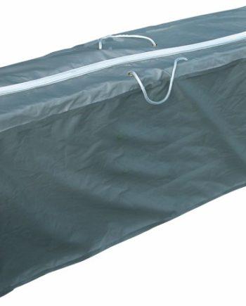 eurotrail draagtas tuinmeubelkussens polyester 125 x 32 x 50 grijs